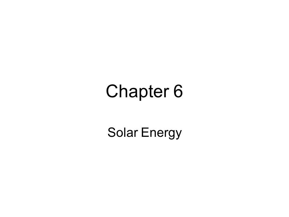 Chapter 6 Solar Energy