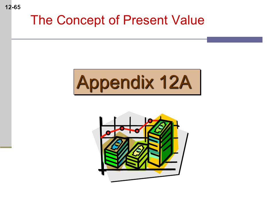 12-65 The Concept of Present Value Appendix 12A