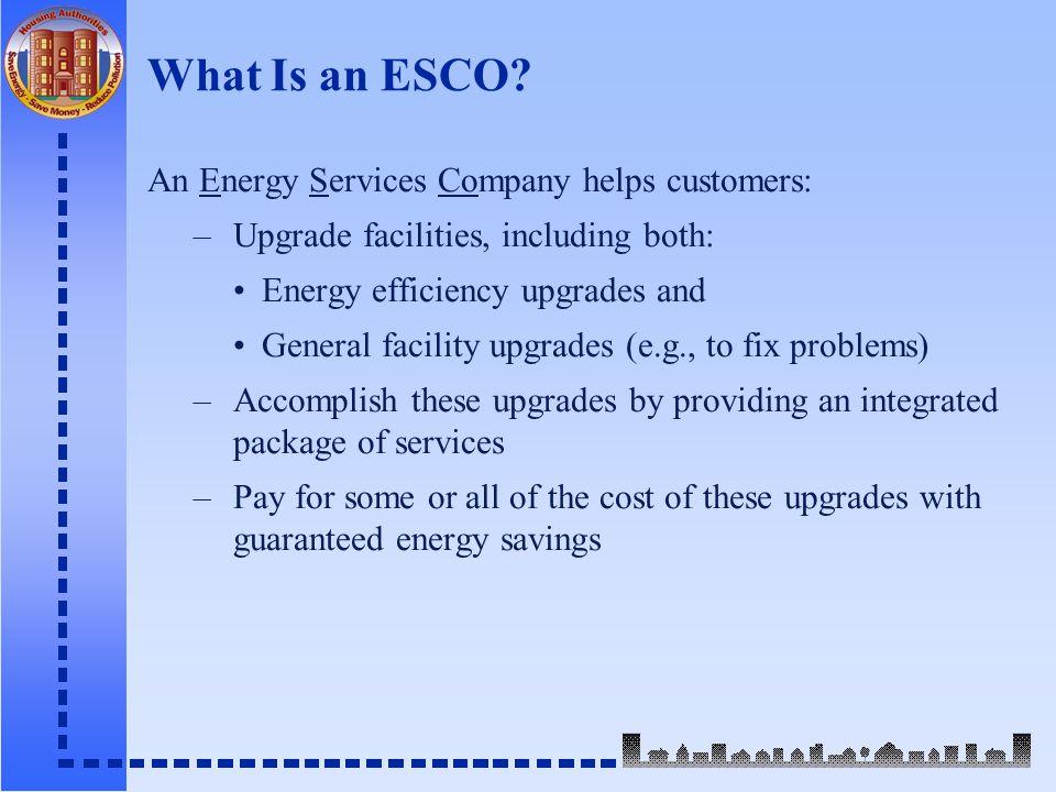 What Is an ESCO.