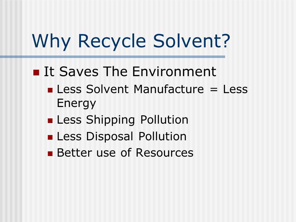 Conclusions SolventTrak Works.