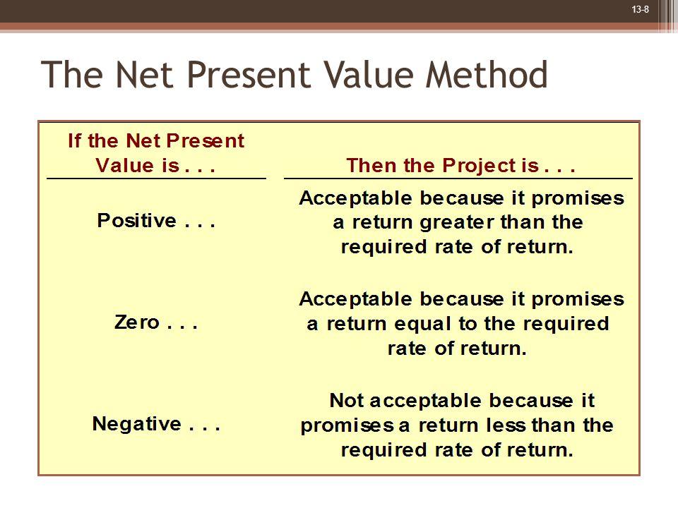 13-8 The Net Present Value Method