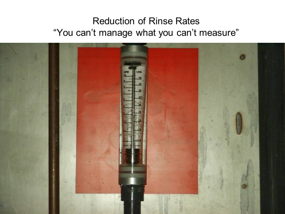 PHILIPS Reduction of Rinse Rates You can't manage what you can't measure