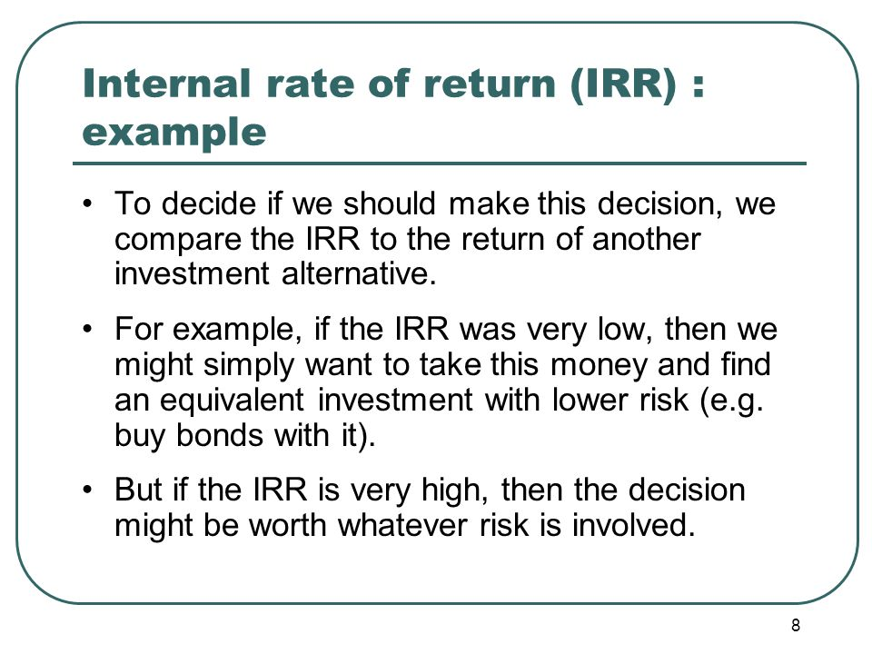 9 Profitability index (PI) PI is defined as PV/I.