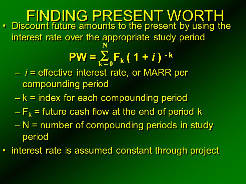 CAPITAL RECOVERY ( CR) CR is also calculated by adding sinking fund amount (i.e., deposit) to interest on original investment CR ( i % ) = ( I - S ) ( A / F, i %, N ) + I ( i % ) CR is also calculated by adding the equivalent annual cost of the uniform loss in value of the investment to the interest on the salvage value CR ( i % ) = ( I - S ) ( A / P, i %, N ) + S ( i % ) CR is also calculated by adding sinking fund amount (i.e., deposit) to interest on original investment CR ( i % ) = ( I - S ) ( A / F, i %, N ) + I ( i % ) CR is also calculated by adding the equivalent annual cost of the uniform loss in value of the investment to the interest on the salvage value CR ( i % ) = ( I - S ) ( A / P, i %, N ) + S ( i % )