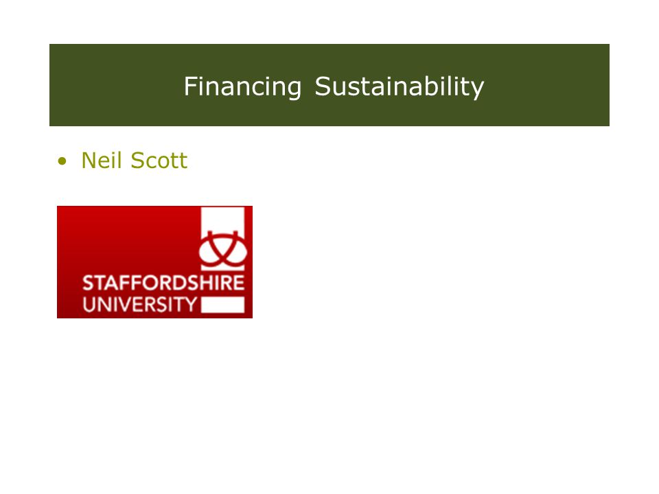 WORKING IN PARTNERSHIP WITH THE Resourcing Sustainability capacity and innovation on a budget