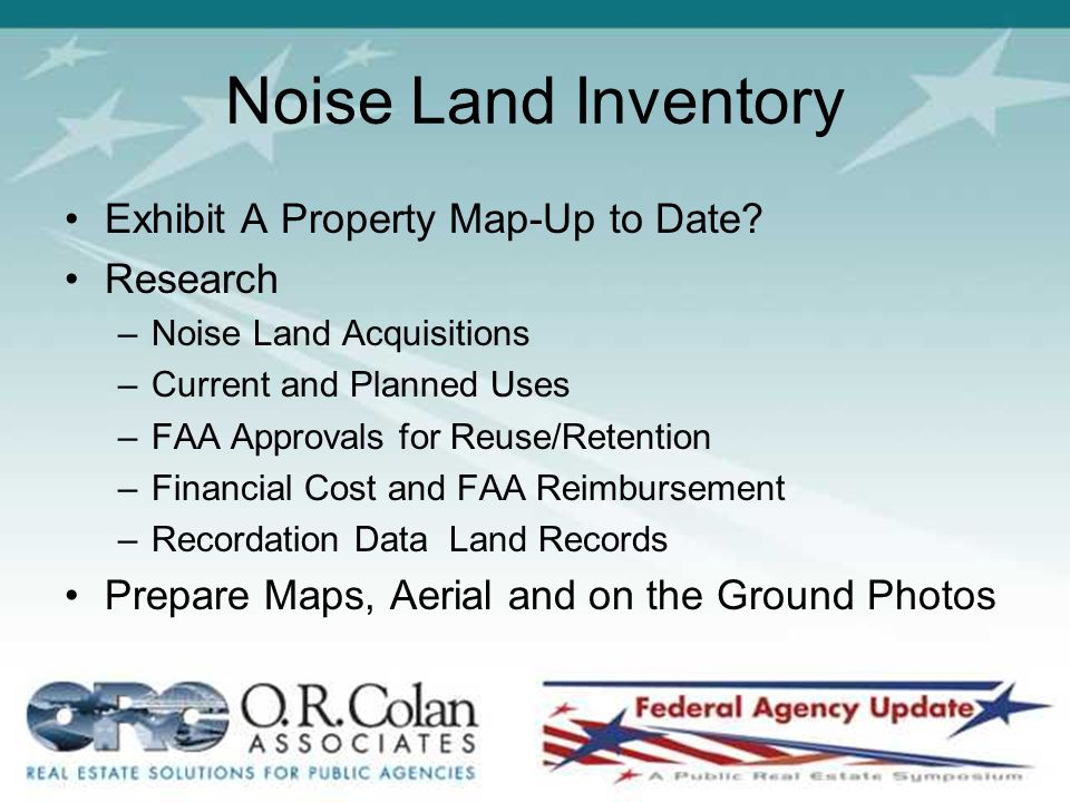 Noise Land Inventory Exhibit A Property Map-Up to Date.