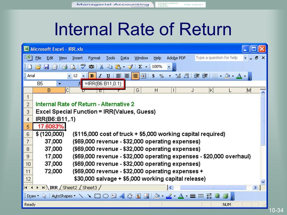 10-34 Internal Rate of Return