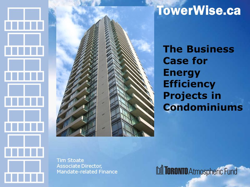 o Overview of the TowerWise program o TEEAC o Key learnings to take home o Why go green.