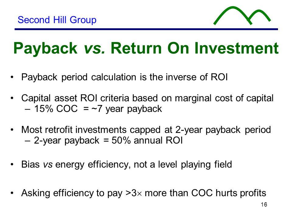16 Payback vs.