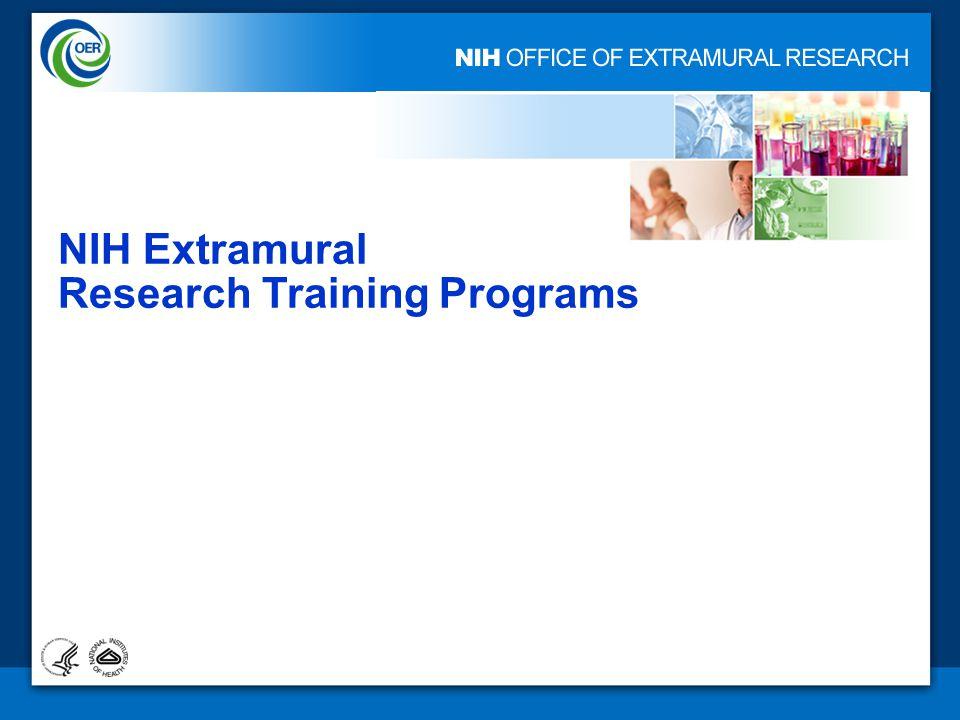 1 NIH Extramural Research Training Programs