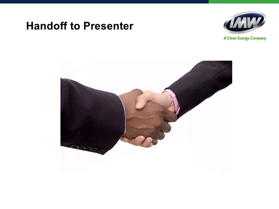 Handoff to Presenter