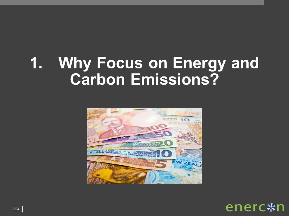 3/24 1.Why Focus on Energy and Carbon Emissions