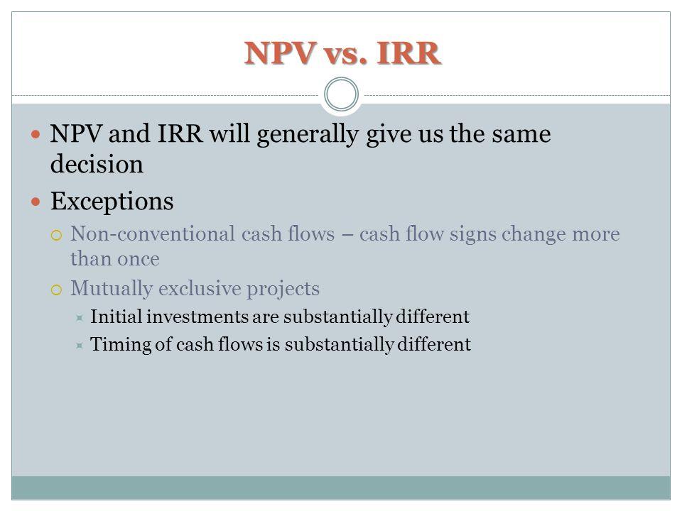 NPV vs.
