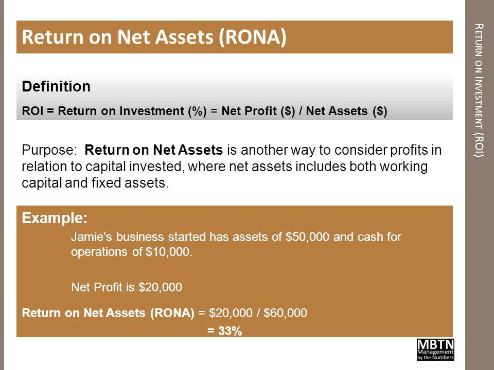 E CONOMIC P ROFIT ( AKA EVA®) Economic Profit (aka EVA®) Purpose: Unlike percentage measures of return (e.g., ROS or ROI), Economic profit is a dollar metric.