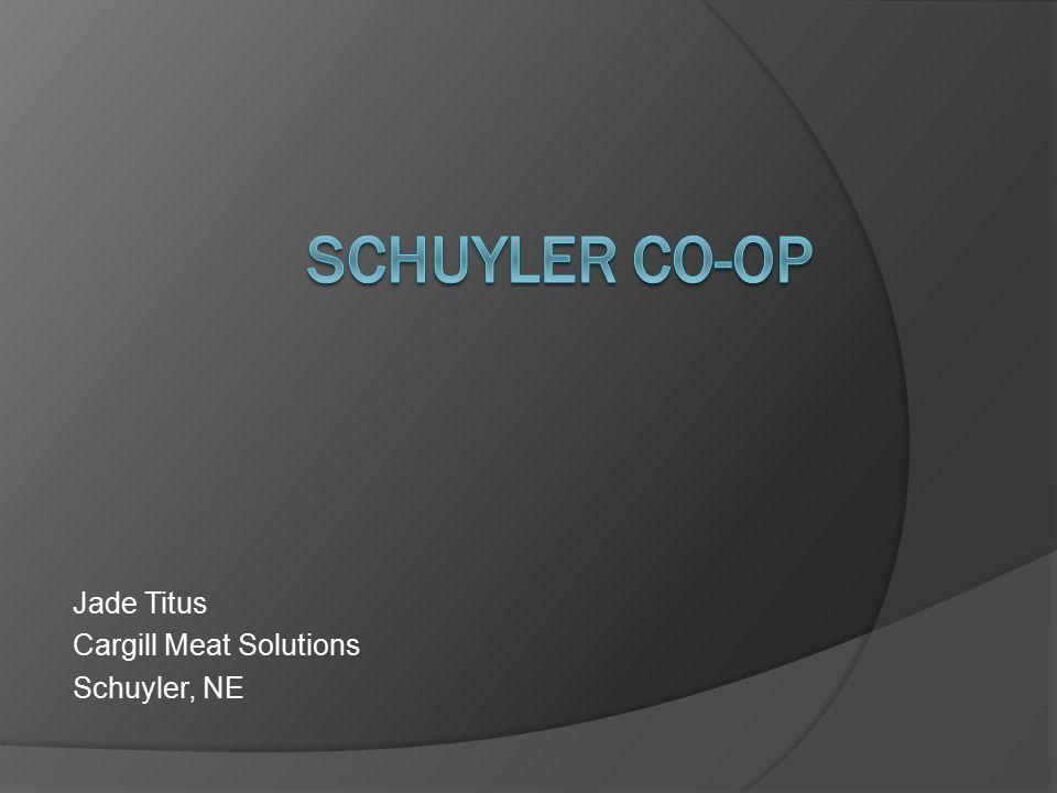 Jade Titus Cargill Meat Solutions Schuyler, NE