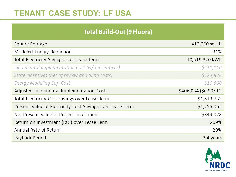 TENANT CASE STUDY: LF USA 18 Total Build-Out (9 Floors) Square Footage 412,200 sq.