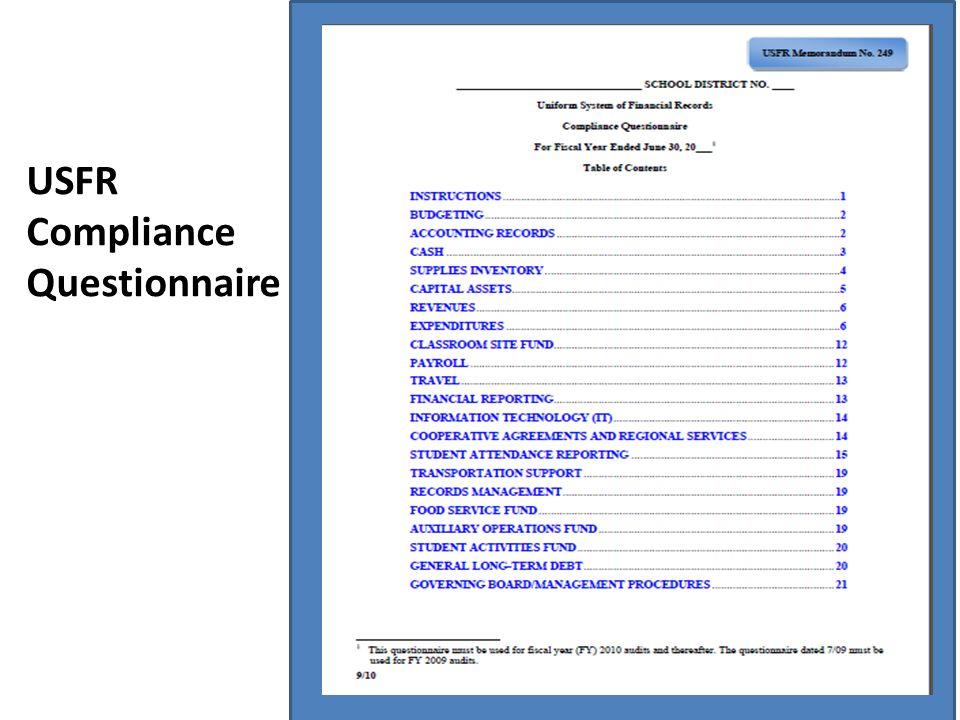 USFR Compliance Questionnaire
