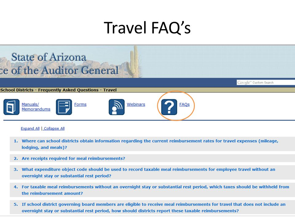 Travel FAQ's