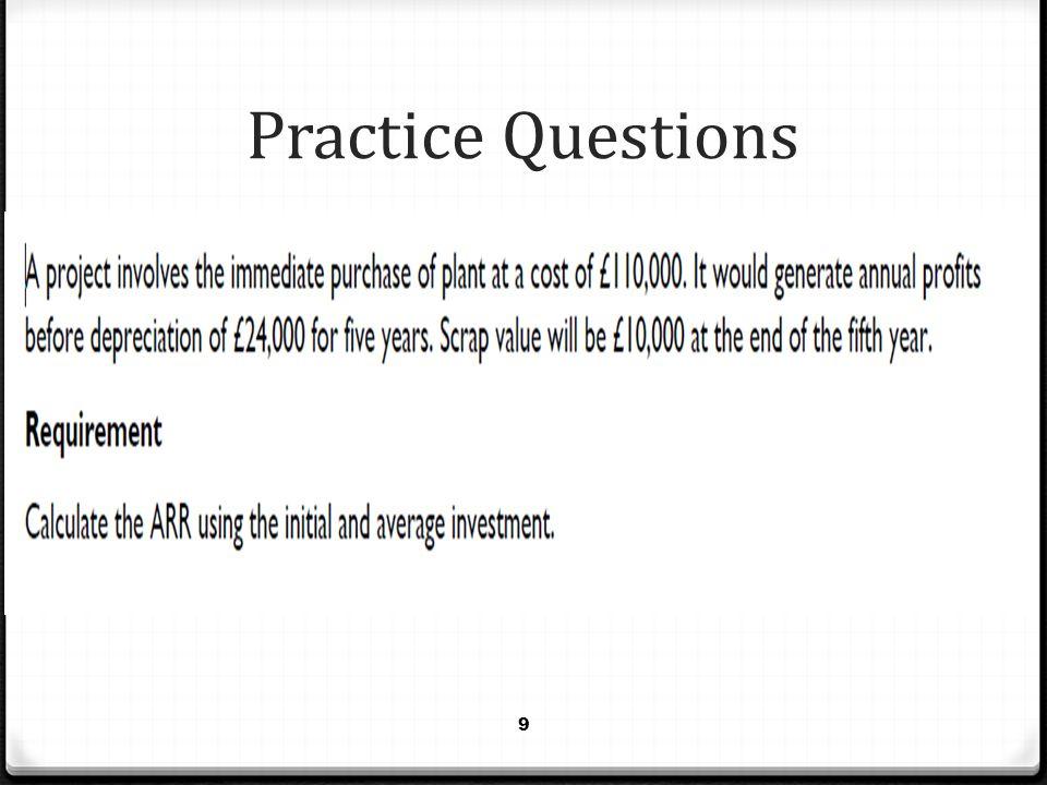 Practice Questions 9