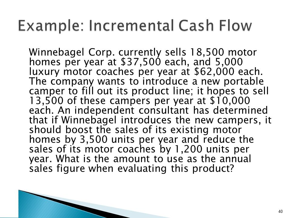 Winnebagel Corp. currently sells 18,500 motor homes per year at $37,500 each, and 5,000 luxury motor coaches per year at $62,000 each. The company wan