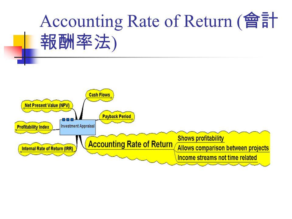 Accounting Rate of Return ( 會計 報酬率法 )