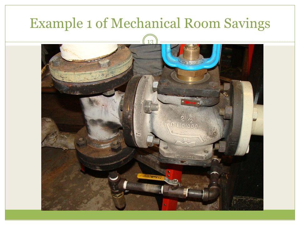 Example 1 of Mechanical Room Savings 13