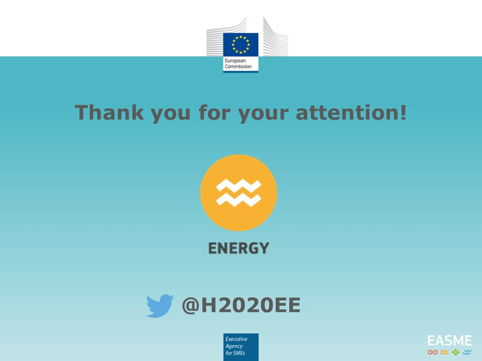 Thank you for your attention! @H2020EE