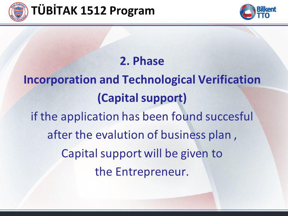 TÜBİTAK 1512 Program 2.