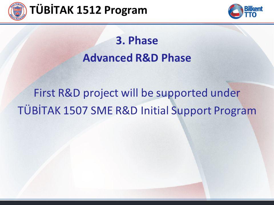 TÜBİTAK 1512 Program 3.