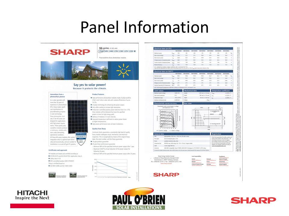 Panel Information