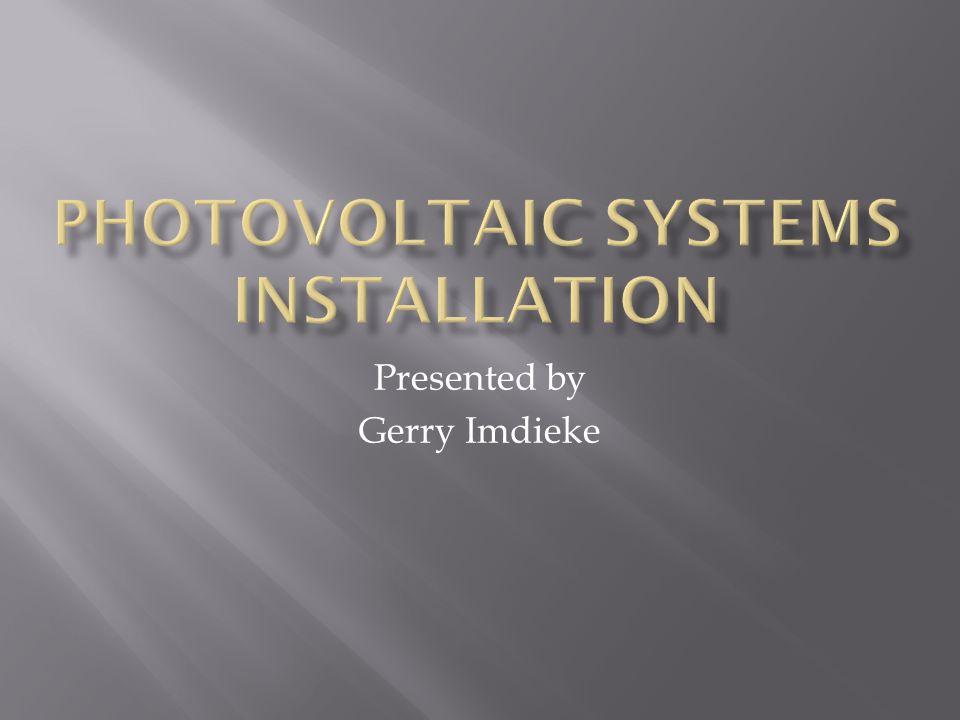 Presented by Gerry Imdieke