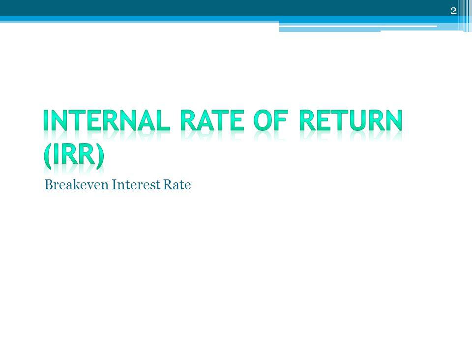 Breakeven Interest Rate 2