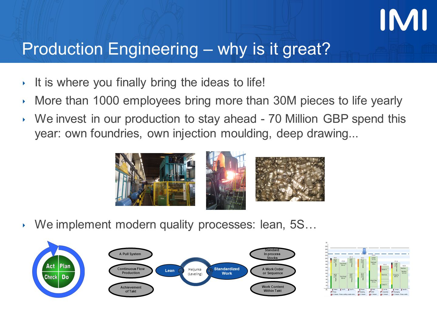 Production Engineering – why is it great.‣ It is where you finally bring the ideas to life.