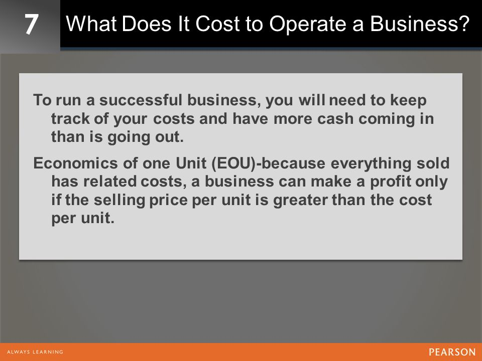 7 Start-Up Investment Seed Capital: one-time expense of opening a business.