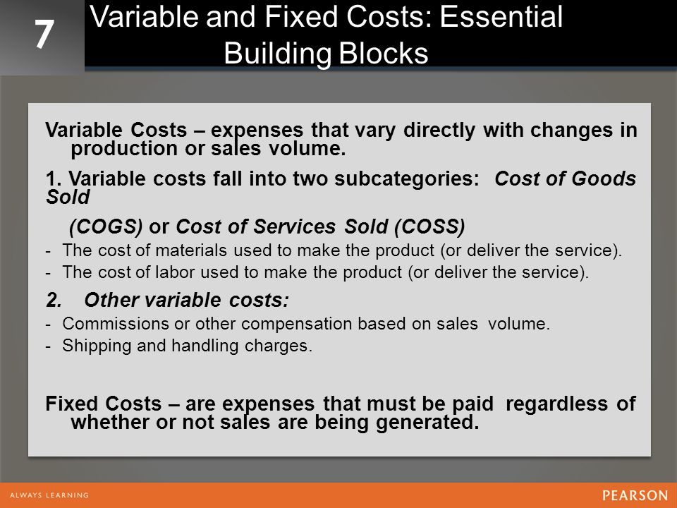 7 Calculating Critical Costs Calculating Total Gross Profit (Contribution Margin)- gross profit per unit-the selling price minus total variable costs plus other variable costs.