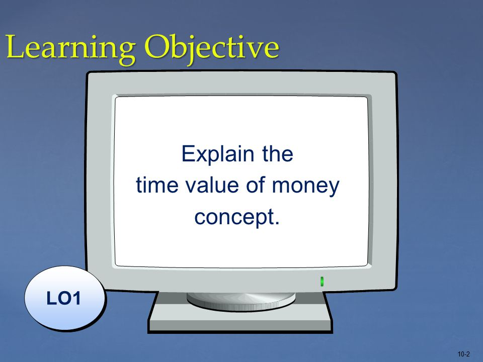 10-2 Learning Objective LO1 Explain the time value of money concept.