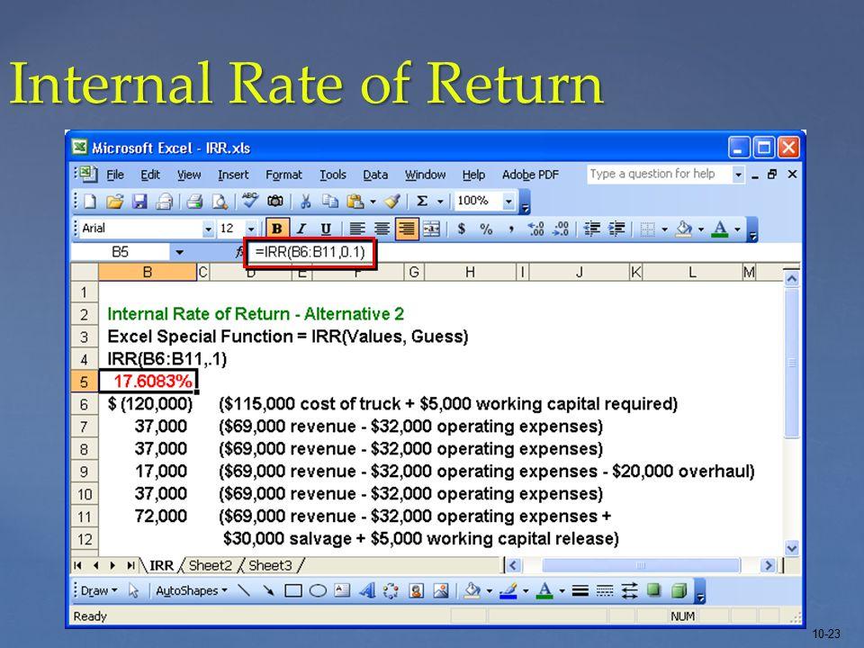10-23 Internal Rate of Return