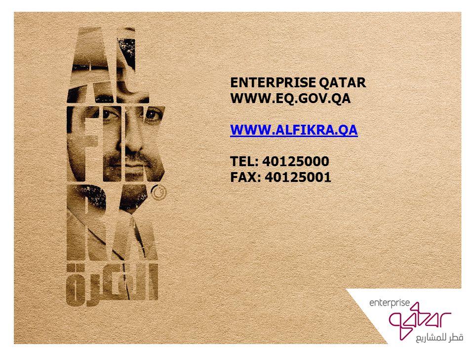 ENTERPRISE QATAR WWW.EQ.GOV.QA WWW.ALFIKRA.QA TEL: 40125000 FAX: 40125001