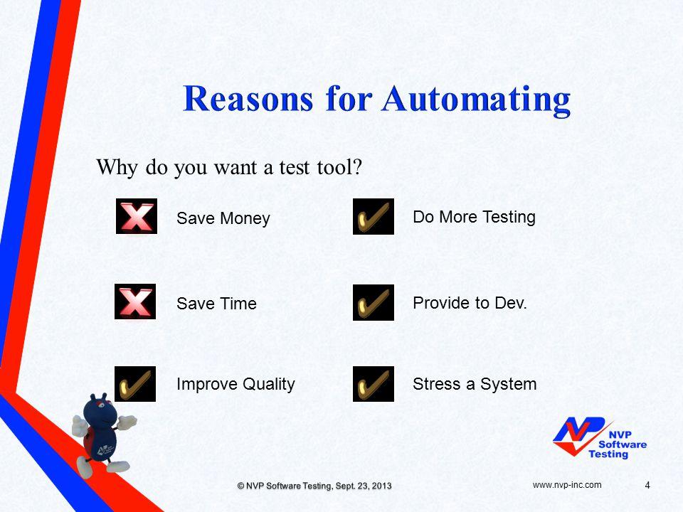 www.nvp-inc.com© NVP Software Testing, Sept.