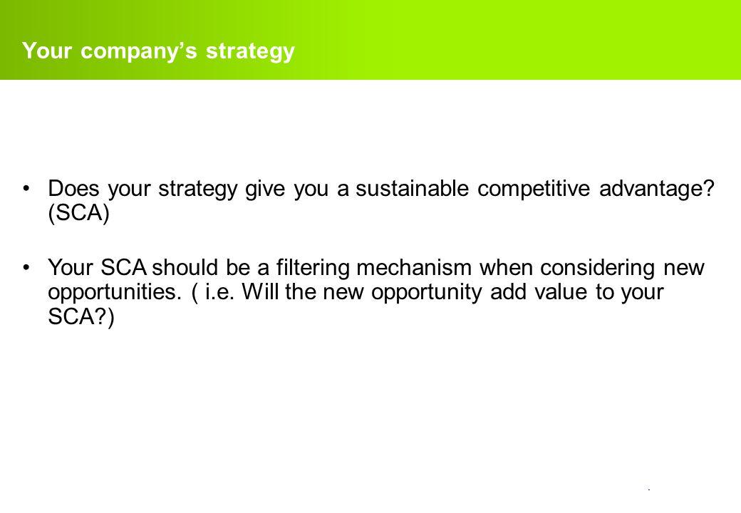 confidential.How does finance measure your SCA. Profit.