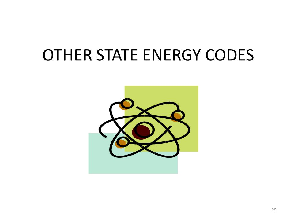 OTHER STATE ENERGY CODES 25