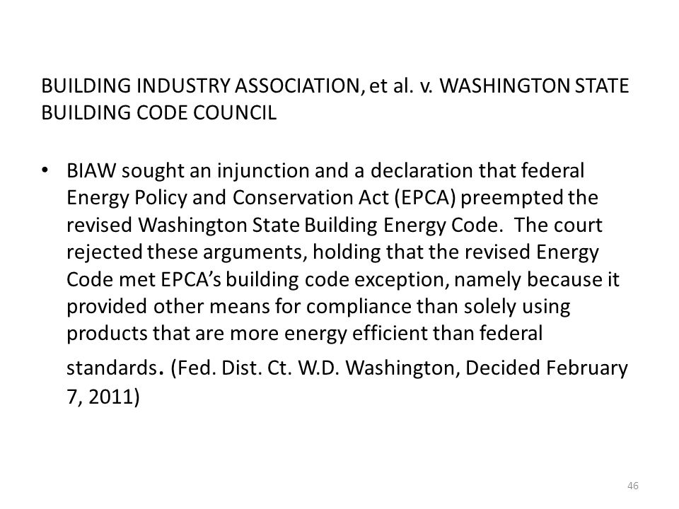BUILDING INDUSTRY ASSOCIATION, et al. v.