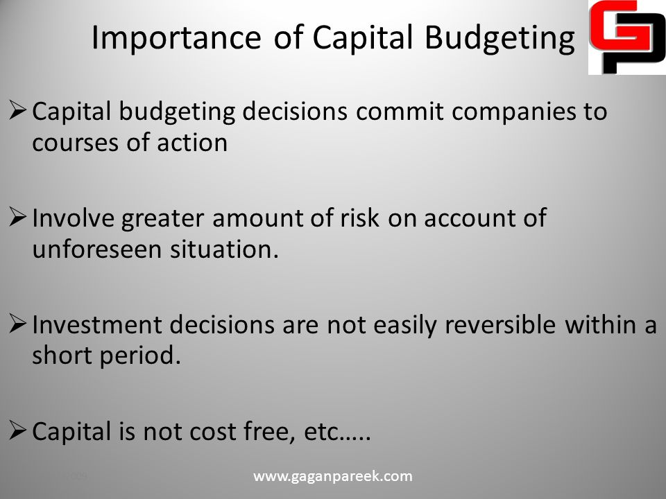 Capital Budgeting – An Overview  Capital budgeting is the making of long-run planning decisions for investments in projects and programs.
