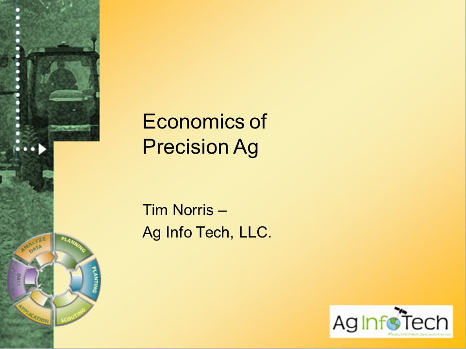Economics of Precision Ag Tim Norris – Ag Info Tech, LLC.