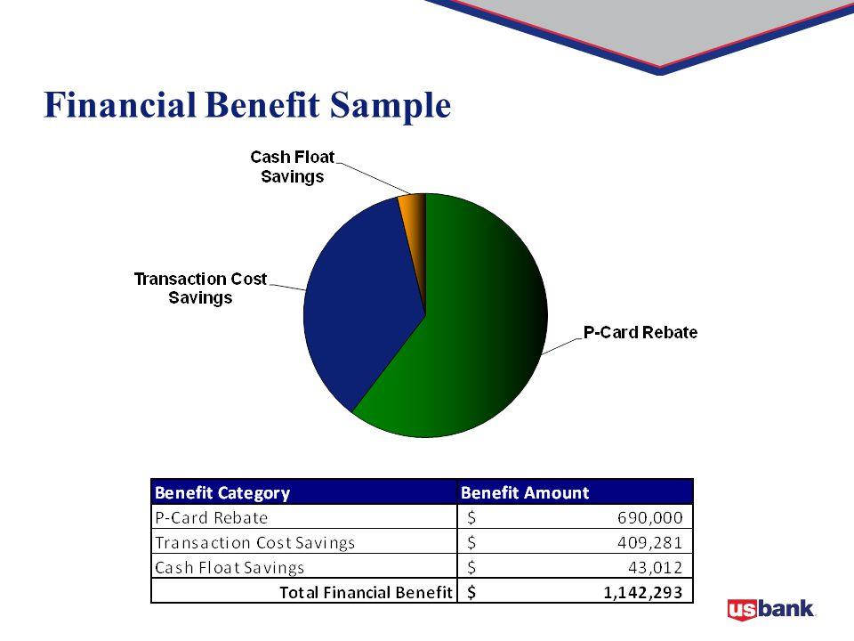 Financial Benefit Sample