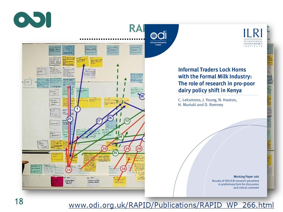 RAPID Outcome Assessment 18 www.odi.org.uk/RAPID/Publications/RAPID_WP_266.html
