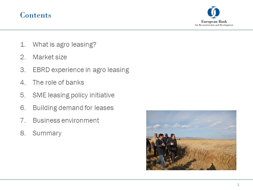 Contents 1.What is agro leasing.
