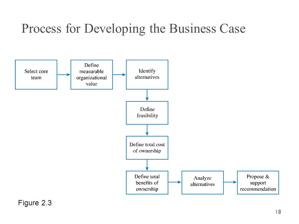 Process for Developing the Business Case Figure 2.3 18