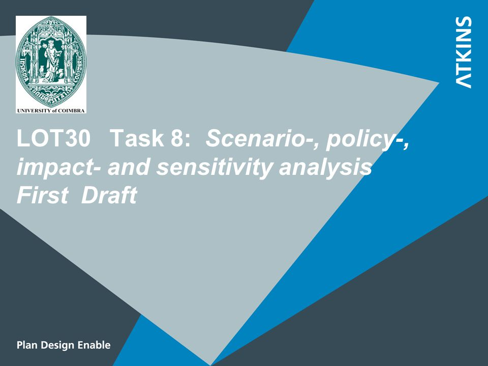 LOT30 Task 8: Scenario-, policy-, impact- and sensitivity analysis First Draft