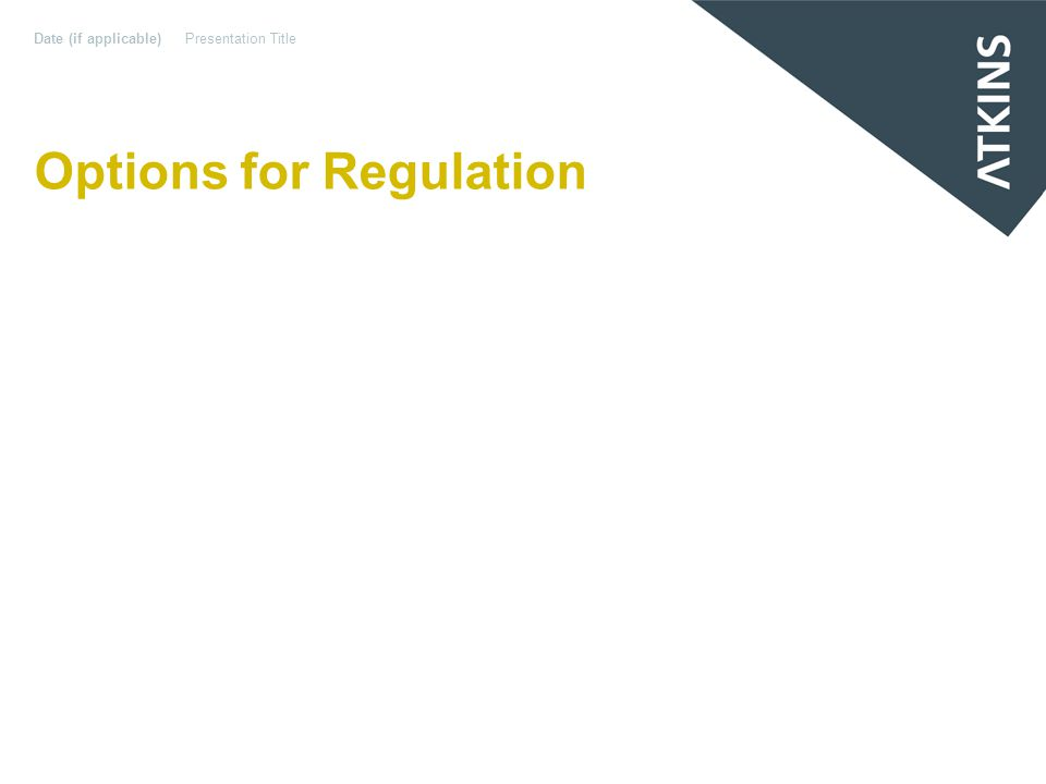 Options for Regulation Date (if applicable)Presentation Title